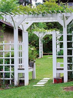--- hmm... one of these with the open side trellis for sweet peas or morning glories
