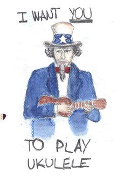 I want you to play ukulele. Ukulele Instrument, Tenor Ukulele, Music Ed, Music Stuff, Music Things, Cool Ukulele, Uke Songs, Key Covers, Playing Guitar