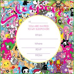 sleepover invitations for teenagers