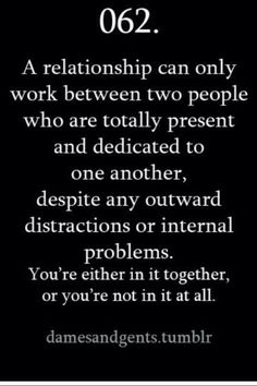 You're in it together or your not!
