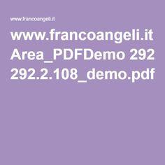 www.francoangeli.it Area_PDFDemo 292.2.108_demo.pdf