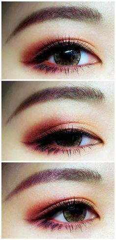 Tutorial Make Up Asian eye makeup, Korean eye makeup, Eye makeup k beauty eye makeup - Eye Makeup Smokey Eyeshadow, Smokey Eye Makeup, Makeup Eyeshadow, Eyeliner, Smoky Eye, Eyeshadow Ideas, Makeup Eyebrows, Eye Brows, Makeup Brushes