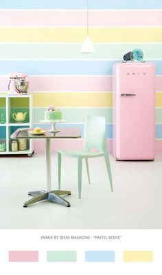 Candy colour kitchen