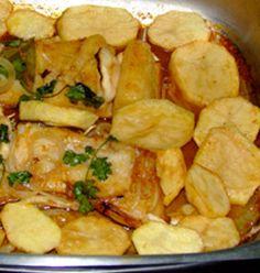 bacalhau com batata doce