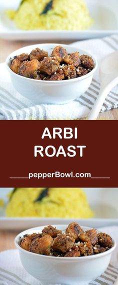 Arbi Roast / Seppangilangu Roast Recipe is the South Indian everyday cooking, a great pair for rice.  via /pepperbowl/