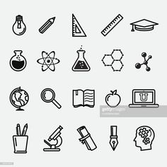 Education and science icons set. Hi-res jpg file is included. Education and science icons set. Hi-res jpg file is included. Vector Art : Simple education and science icons Science Doodles, Science Icons, Easy Science, Science Art, Science Room, Science Images, Science Biology, Science Education, Teaching Science
