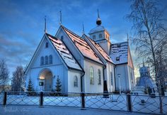 https://flic.kr/p/5HhMVp | Church in wintertime | Piteå stadskyrka in Sweden in wintertime at sunset.