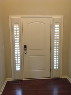 **Would LOVE this for our front door. side light plantation shutters