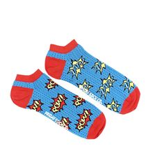 *NEW* Pow Zap Ankle Socks | Mismatched by Design | Friday Sock Co. Ethically made in Italy. Click the link to see more designs!