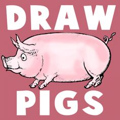 Learn how to draw a pig - step by step