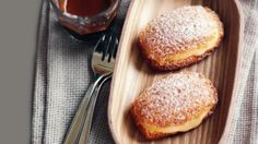 Madeleines with lime curd