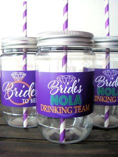 NOLA anyone? Grab your cup and lets go to Mardi gras. Bachelorette Party Cups. Personalized.