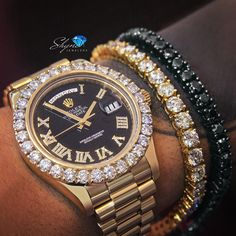 In some cases part of that image is the quantity of money you invested to use a watch with a name like Rolex on it; it is no secret how much watches like that can cost. Stylish Watches, Luxury Watches For Men, Mens Diamond Stud Earrings, Diamond Bracelets, Expensive Watches, Jewelry Armoire, Beautiful Watches, Rolex Datejust, Luxury Jewelry