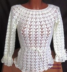 Click to view pattern for - Crochet white blouse