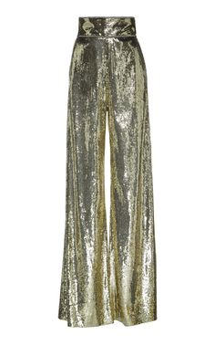 High Waist Sequin Embellished Pants by DUNDAS for Preorder on Moda Operandi 70s Fashion, Fashion Killa, Love Fashion, Fashion Outfits, Womens Fashion, Fashion Design, Female Fashion, Fashion Rings, Fashion Boots