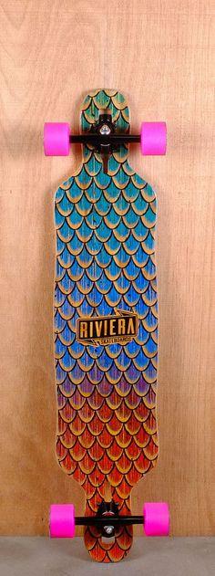 "Riviera Prebuilt 41"" Sea Snake Drop Through Longboard Bottom"