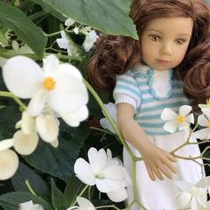 Beauty among the flowers! #dollstagram #girl #sewing #party #movies #collectibles #friends #fridaynight #maru #maru #shop #miami #blue #florida check us out!
