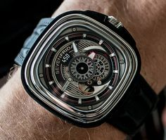 """SevenFriday P3C/01 Hot Rod Watch - by Victor Marks - Learn more about the newest offering from SevenFriday at: aBlogtoWatch.com """"For Bonneville Speed Week, SevenFriday is launching a limited-edition watch decorated with details that recall some of the iconic parts of hot rod cars. The SevenFriday P3C/01 Hot Rod watch stands out in a crowded field of car- and racing-inspired watches due to a combination of good design..."""""""