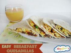 Easy Breakfast Quesadillas MOMables.com