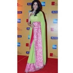 Sridevi Lemon Beauty Saree