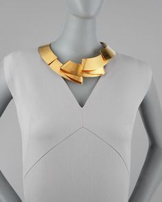 Herve Van Der Straeten Folded Ribbon Collar Necklace