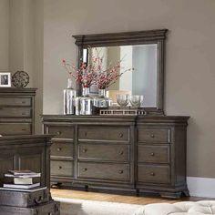 Arcadia Wood Nine Drawer Dresser in Truffle by Aspenhome