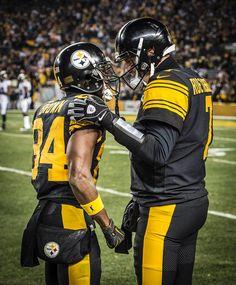 577b1c628b5 Antonio Brown and Big Ben. Pittsburgh Steelers · Ben Roethlisberger