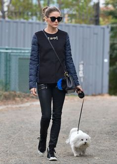Fashion Queen #OliviaPalermo staying chic on her day off  http://www.refinery29.com/2013/10/55296/olivia-palermo-dog-walk-street-style?utm_source=feedly