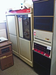 PRIME computer With tape drive (left) and a DEC pdp11/70 (right) from 1975. US Prime Computer Inc. built mini-computers from 1972 to 1992.