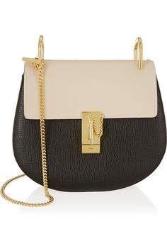 Chloé|Drew medium textured-leather shoulder bag|NET-A-PORTER.COM