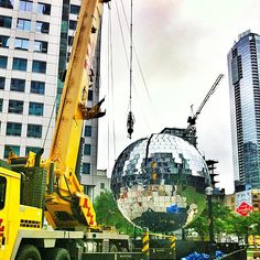 Luminato festivities included a giant disco ball this year.  Photo by karinainto