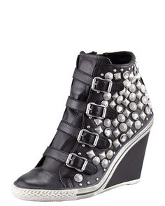 Studded Wedge Sneaker by Ash at Bergdorf Goodman.