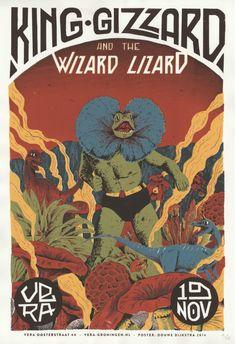 He encontrado este interesante anuncio de Etsy en https://www.etsy.com/es/listing/223118162/king-gizzard-the-lizard-wizard-concert