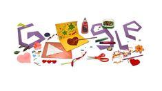 Ημέρα της Μητέρας: Η Google τιμά τη γιορτή με το σημερινό της Doodle - CNN.gr Doodle Google, Macaroni Art, Google Homepage, Doodle Inspiration, Interactive Cards, Construction Paper, Card Maker, Custom Cards, Playing Cards