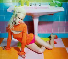 Lili Sumner by Miles Aldridge for Numéro France, November 2015 •