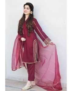 Best Picture For clothes for women boho For Your Taste You are looking for something, and it is going to tell you exactly what you are looking for, and you didn't find that picture. Here you will find Stylish Dress Designs, Stylish Dresses For Girls, Simple Dresses, Casual Dresses, Simple Pakistani Dresses, Pakistani Dress Design, Pakistani Fashion Party Wear, Pakistani Outfits, Punjabi Fashion