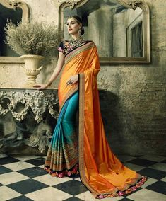 New Arrive Designer Party Wedding Sangeet Indian Ethnic Women Saree Kt-3195-c Clothing, Shoes & Accessories
