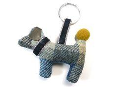 Dog Keyring - Cloudburst Tweed Fair Trade Jewelry, Jewelry Roll, Velvet Ribbon, Shades Of Green, Tweed, Dog Lovers, Indigo, Rolls, Jewellery