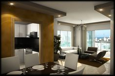 Apartamentos en el Caribe Alto Standing. Torre Prisma, sala estar.