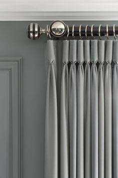 Silk-Goblet pleat drapery panels.