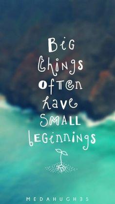 Las grandes cosas empiezan por algo pequeño...