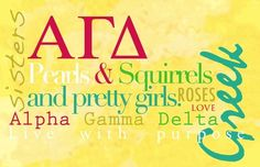 Pearls, squirrels, and alpha gam girls