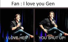 Hahahahaha | We Heart It | supernatural, funny, and jared ...