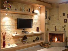 Tv Unit Interior Design, Tv Wall Design, Home Design Decor, House Design, Home Decor, Tall Dining Table, Tv Wand, Living Room Tv Unit Designs, Tv Furniture