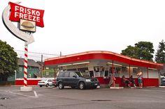Frisko Freeze, Tacoma, WA, Classic American Drive-Thru
