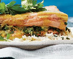 Gremolata Rainbow Trout with Coconut Curry Sauce
