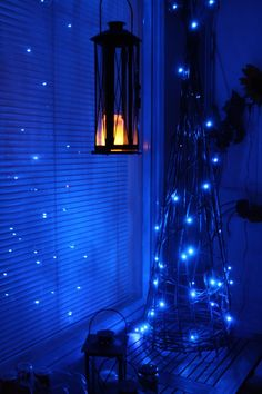 Dream Rooms Aesthetic Blue - Decoration Home Aesthetic Bedroom, Blue Aesthetic, Blue Fairy Lights, Dark Blue Rooms, Light In The Dark, Light Blue, Deep Blue, Photo Bleu, Bleu Indigo