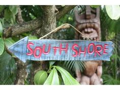 """""""Southshore"""" Driftwood Sign 20"""" - Pool Decor"""