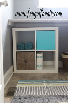 Laundry Room Organization - simple and affordable storage