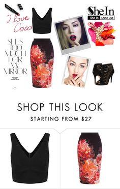 """v-neck top shein"" by deboraaguirregoncalves on Polyvore featuring moda, Coast, Nine West, Polaroid, Chanel e Rika"